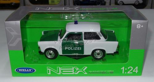 Welly trabant//destartalado 601 crema-con pullback-función nuevo en caja original 1:34
