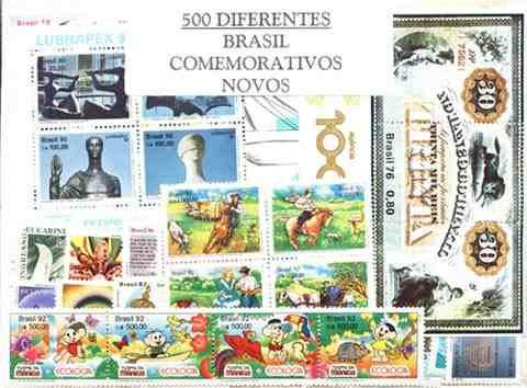 Brasil - Excepcional Conjunto - 500 Estampillas