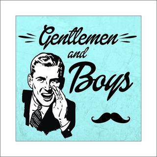 Cartel Baños Vintage Gentlemen Women Hombre Mujer Pvc 20x20