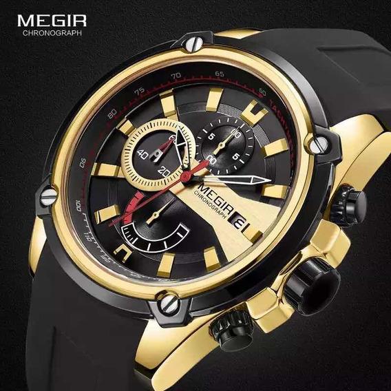 Relógio De Pulso Masculino Megir 2086 Original Com Caixa