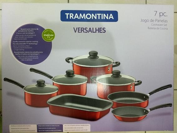 Jogo Panelas Tramontina Versalhes Alumínio 7 Peças Vermelho