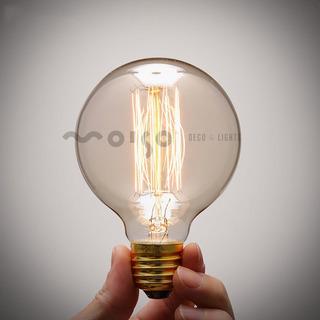 Lámpara Focos Vintage Filamento Carbono Globo G80 24w E27