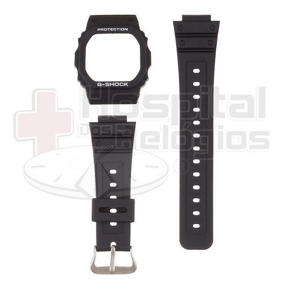 Kit Capa Pulseira Casio Dw-5600e G-shock S. Prata Parafusado