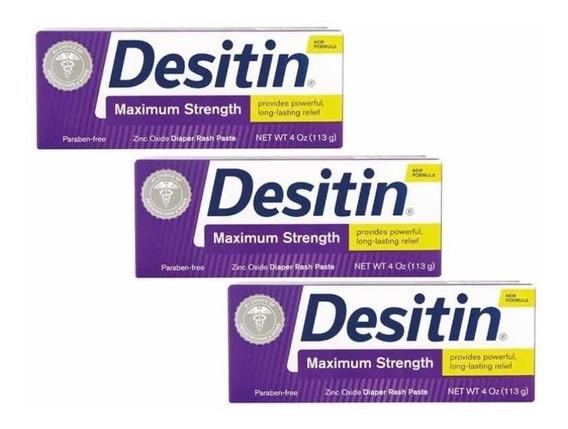 Desitin (kit 3 Unid.) Roxa Pomada Tubo 113g Maximun Strenght