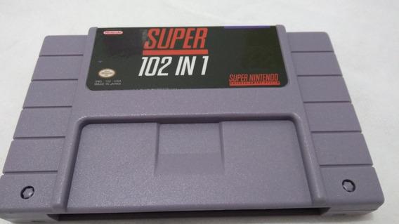 Cartucho Fita Super Nintendo Snes 102 Em 1 Multi Jogos