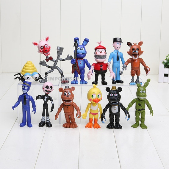 Kit 12 Miniaturas Five Nights At Freddy