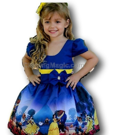 Vestido Temático Infantil Kit Com 30 Festa Tema