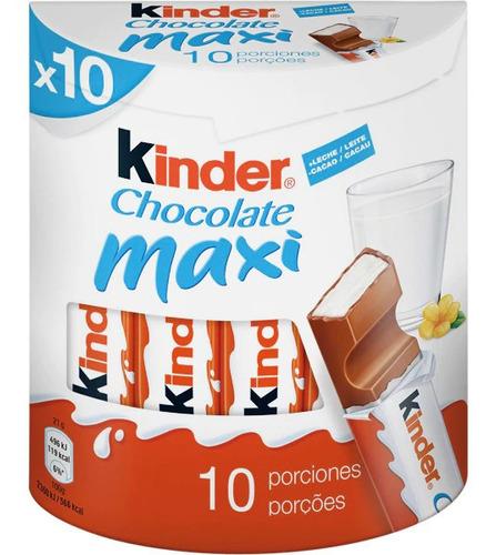 Barra Chocolate Kinder Maxi X10 210g Leche Golosinas