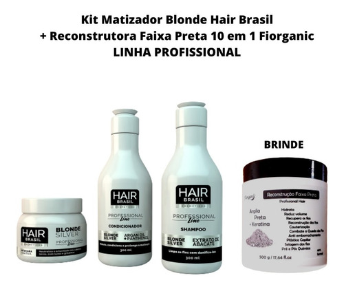 Imagem 1 de 3 de Matizador Blond Silver Kit Profissional + Brinde Faixa Preta
