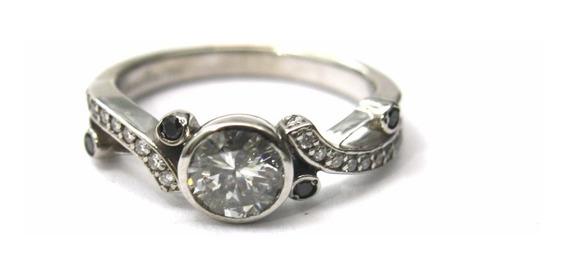 Anel Solitário Diamante De 75pt Ouro Branco 18k Noivado D661