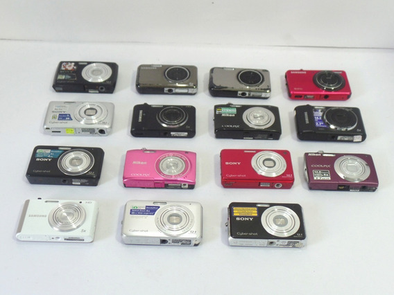 Lote 15 Cameras Digitais Com Defeito Para Retirada De Peças