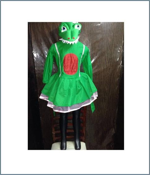 Disfraz Cocodrilo Para Niña Talla #4 6 8 Y 10 R