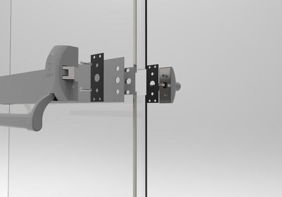 Barra Antipânico Para Porta De Vidro C/ Chave Uma Folha