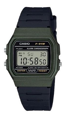 Relógio Casio Unissex Vintage F-91wm-3adf Original
