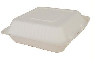 50 Pzs Domo Biodegradable 9x9 Fibra De Caña