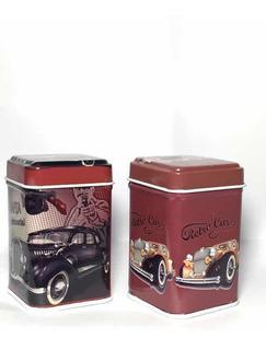 Set De 4 Latita Especiero Con Diseños Londres Retro Vintage