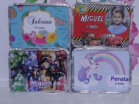 Kit C/01 Slime Marmitinha Personalizados Com 10 Peças