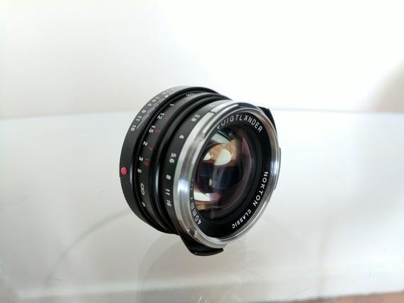 Lente Nokton Voigtlander 40mm 1.4 + Adaptador Para Sony A7s