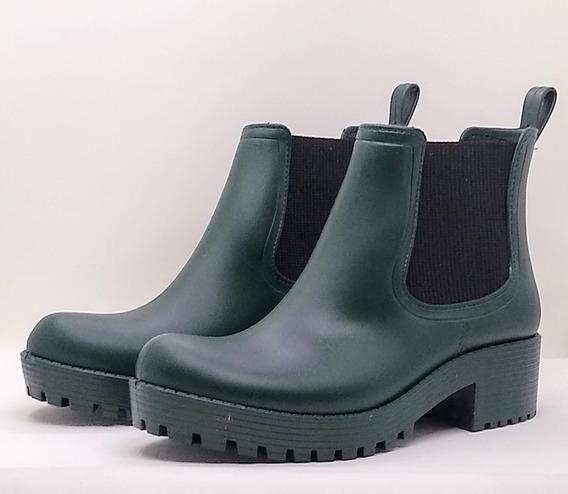 Botas De Lluvias Color Verde Nueva Temporada Tkshoes