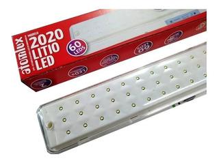 Luz De Emergencia Atomlux 2020 Slim Bateria Litio 60 Leds