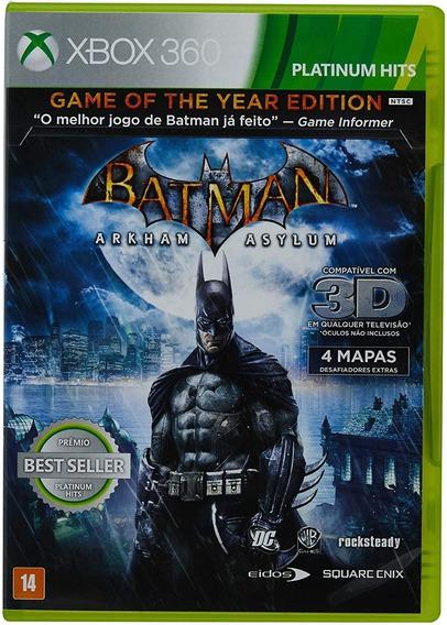 Batman Arkham Asylum Platinum Hits Xbox 360 Usado