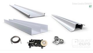 Kit Integral Frente Placard 2mts Aluminio Compacto G Euro