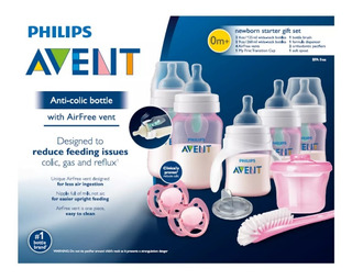 Avent Philips Set De Teteros Rosa Anticólicos Con Inserto.