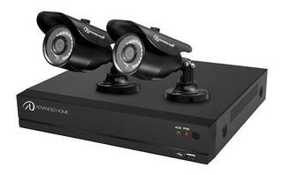 Sistema De Vigilancia 4 Canales 2 Cámaras Disco Duro 1 Tb