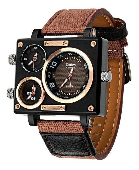 Reloj Hombre Oulm Militar Vintage Original Nuevo Importado
