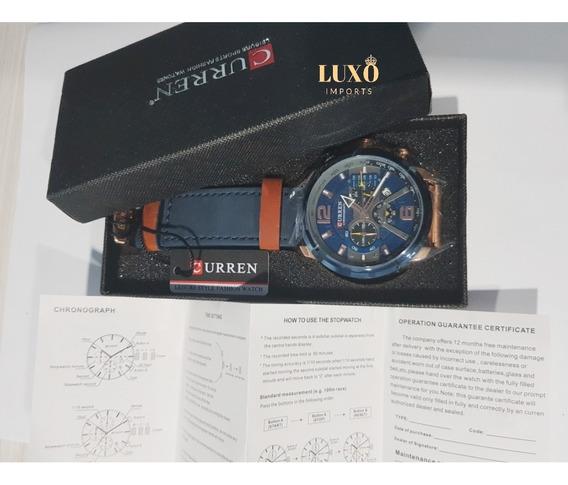 Relógio Masculino De Luxo Curren 8329 Original!!!