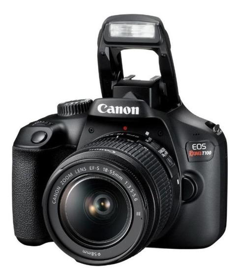 Câmera Canon Eos Rebel T100 Wifi 18mp Kit 18-55mm Iii - Nf