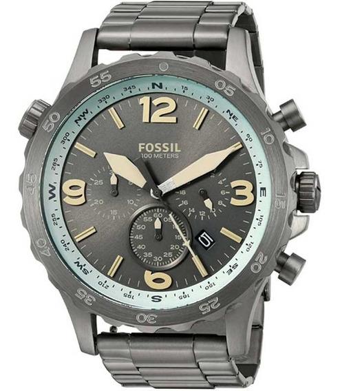 Relógio Masculino Fossil Nate Chronograoh Jr1517/1cn Cinza