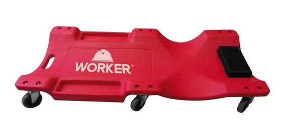 Esteira Para Mecânico Com Encosto Capacidade 130 Kg Worker