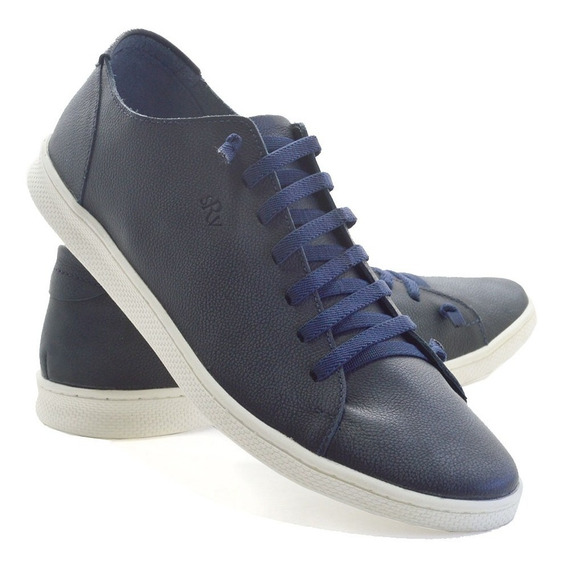 Sapato Masculino Casual Sanravi Sapatenis Em Couro Promocao