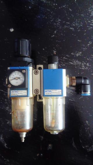 Airtac Filtro Y Regulador Gfr200-08 Lubricador Gl200-08