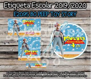 Kit Imprimible Etiquetas Escolares Bo Peep Toy Story