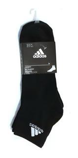 Paquete 3 Pares De Calcetas adidas Cortas ( Tobillo ) Thin Ankle Modelo Aa2321 Negro 27-29 Mex Originales Nuevos
