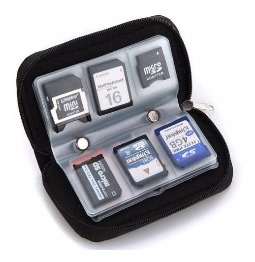 Case Porta Cartão Sd, Sdhc, Micro,cf + Case Pilhas Aa, Aaa