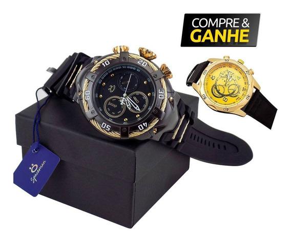 Relógio Masculino Orizom Original Preto + Caixa + Nfe