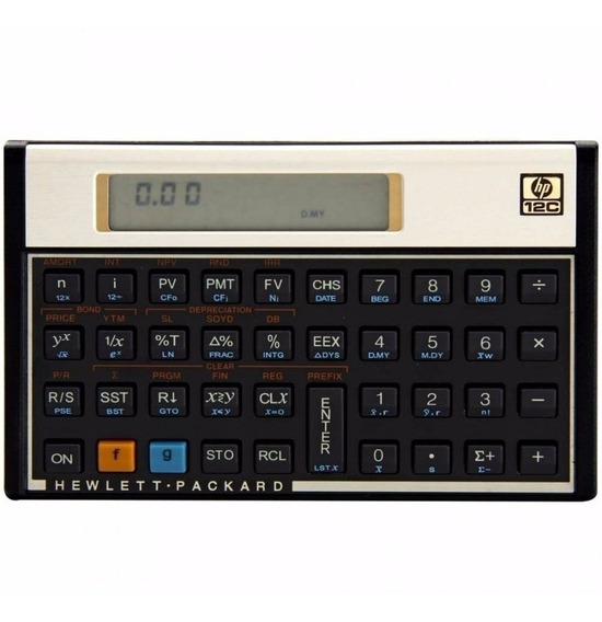 Calculadora Financeira Barata Hp 12c Gold Original+ Capa