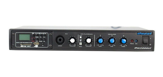 Amplificador 60w Até 12 Cx C/ Usb / Equ Om 2000 Oneal