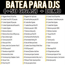 Batea Dj Completa Organizada (musica Dj Actualizada) + 50 G.