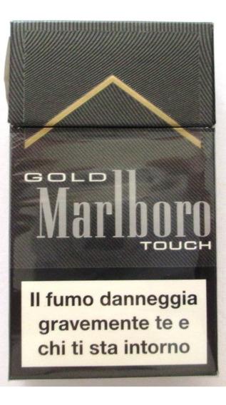 A1835 Caixa De Cigarros Marlboro Gold, Italiano, Vazia, Déc