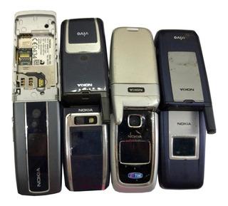 Lote C/ 11 Celulares Nokia 3555/2855/6101/6165 No Estado