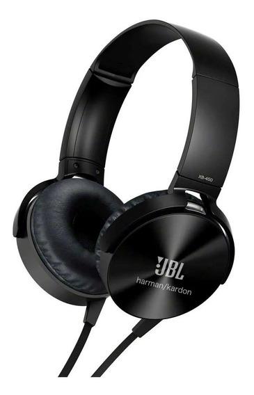 Fone De Ouvido Headphone Jbl Xb-450 Extra Bass Preto