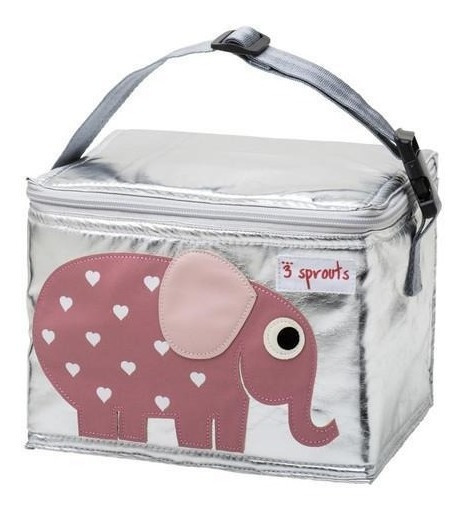 Lunch Bag 3 Sprouts Elefante Rosa