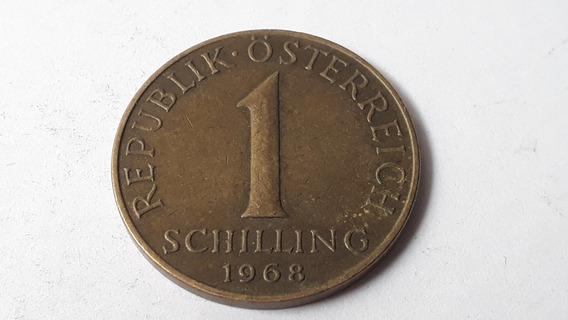 Moneda Austria 1 Chelín, 1968 Bronce De Aluminio Lote 613