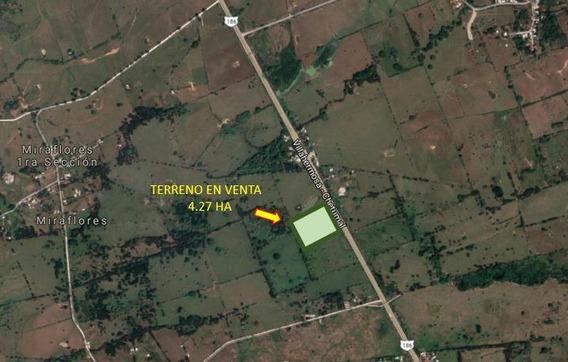 Terreno En Venta En Villahermosa Macuspana Km 22.5