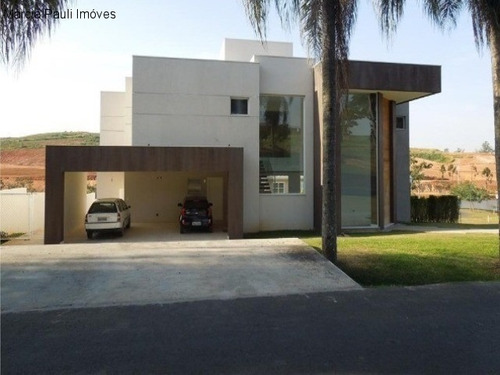 Linda Casa Sobrado Condomínio Fazenda Serra Azul Itupeva Sp - Ca01044 - 4725896