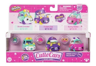 Shopkins Cutie Cars X3 - Originales